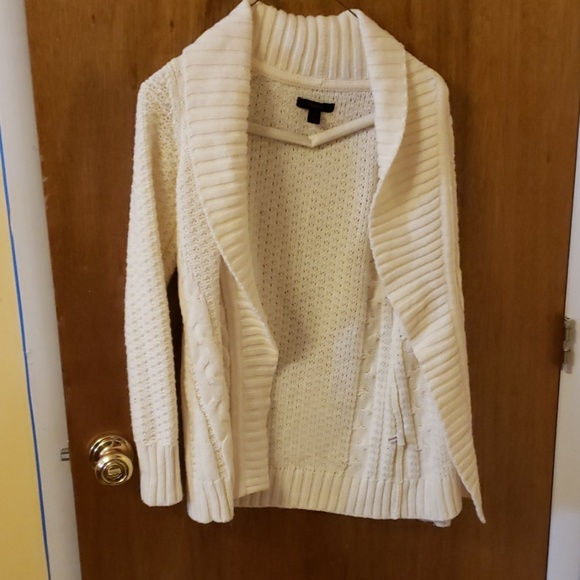 Express Sweaters - White Cardigan from Express
